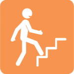 Icon of person climbing stairs