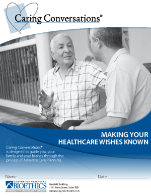 Caring Conversations – Advance Care Planning Workbook