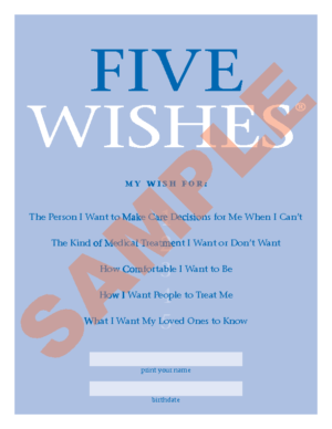Five Wishes – Advance Directive Forms