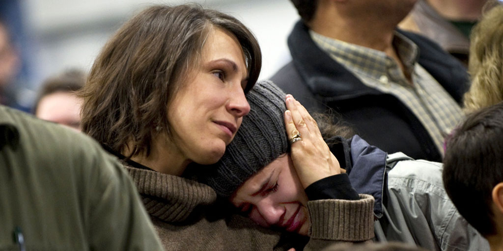 Mother Comforts Daughter